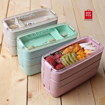Portable 3 Layer Lunch Box