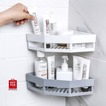 Triangular Corner Bathroom Shelf