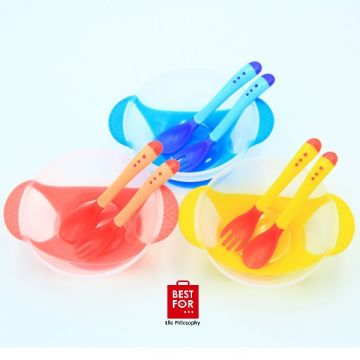 Baby Feeding Bowl with Spoon and Fork