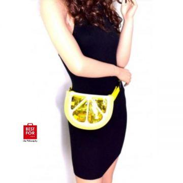 Lemon Theme Plastic Belt Bag
