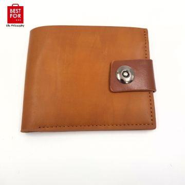 Men's wallet with buckle-Camel