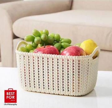 Large Plastic Storage Basket
