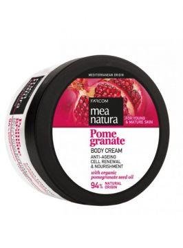 MEA NATURA Pomegranate Body Cream Anti-Ageing, Cell Renewal & Nourishment /250ml